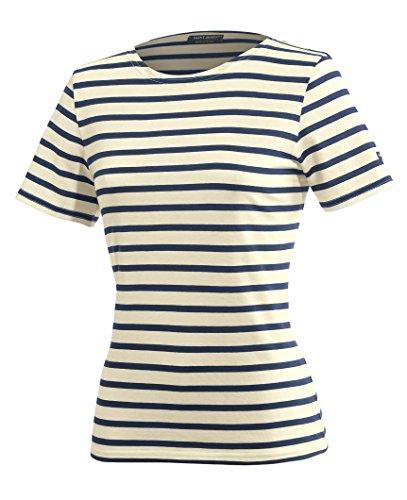 Saint James Etrille - Streifenshirt - Bretagne-Shirts Ecru/Marine (38)