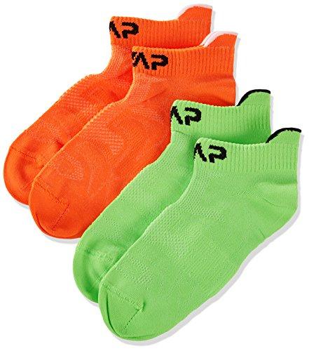 CMP 3I96874, Calzini Bambino, Arancione Fluo/Verde Fluo, 25/27, Arancione Fluo/Verde Fluo, 25/27