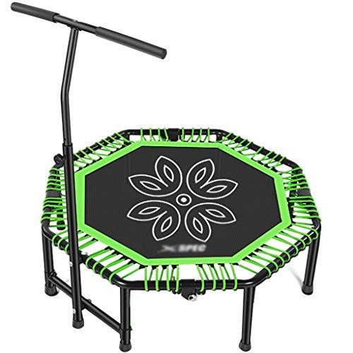 Trampolines Trampolin Fitness Plegable para Adultos, Trampolín para Niños En El Hogar, Rebote Elástico para Interiores, Trampolín para Adelgazar para Adelgazar (Color : Green, Size : 121 * 35cm)