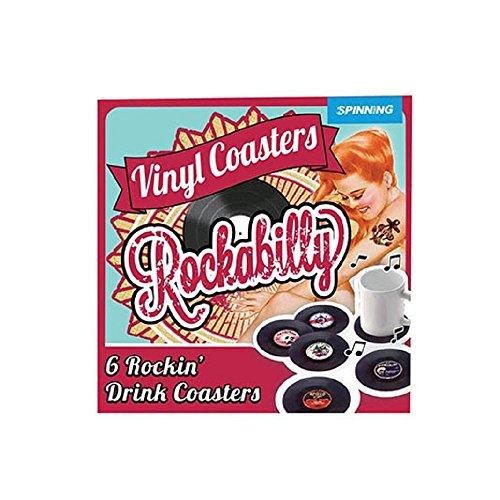 Gift Republic 12607 Rockabilly Schallplatten Glasuntersetzer