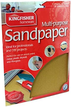 Kingfisher SAND2B 10 Sheets Wet and Dry Sandpaper Brown