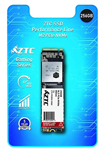 ZTC 256GB M.2 NVMe PCIe 80mm SSD Astounding Performance and High-Endurance Great Upgrade for Gaming Model ZTC-PCIEG3-256G