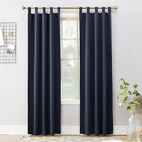 "Sun Zero Easton Blackout Energy Effcient Tab Top Curtain Panel, 40"" x 84"