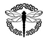 Celtic Dragonfly Vinyl Decal Sticker