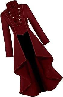 Baoblaze Veste Costume Gothique Femme Manteau Steampunk Slim Fit Halloween Mariage D/éguisement