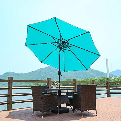 ZMN Ombrellone Esterno Cortile Villa ombrellone Balcone Giardino ombrellone Spiaggia ombrellone Romano-Azzurro_2,1 Metri