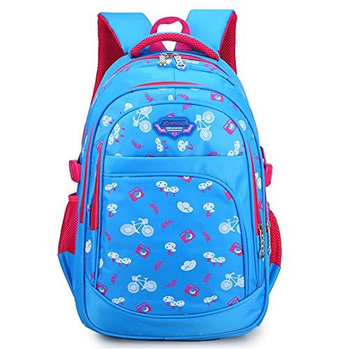 Cute basic school bags, large capacity, school bags, backpack, children's bags, children's backpack., Blue (Blue) - RS190812