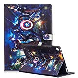 Case for Galaxy Tab A 10.1' 2019 Tablet,Phenix-Color Cartoon Cute Premium Flip Smart Stand PU Leather Shell Protective Case for SM-T510 / T515,Gift for Kids Children (Avengers-3)