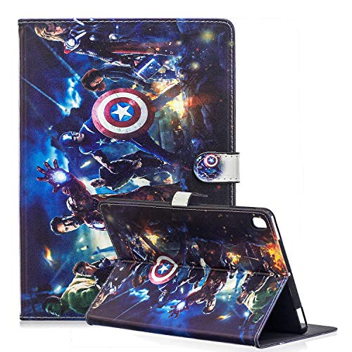 Case for Galaxy Tab A 10.1' 2019 Tablet ,Phenix-Color Cartoon Cute Premium Flip Smart Stand PU Leather Shell Protective Case for Samsng Galaxy Tab A SM-T510 / T515 (Avengers-3)