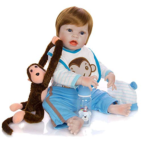 GFQ 23 in 57cm Fullbody Real Touch Baby Realistiche Bambole rinate Realistic Newborn Baby Toy Doll Regalo di Natale