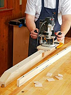 A Woodworking Plan with Instructions to Build a Plunge Router Mortising Jig