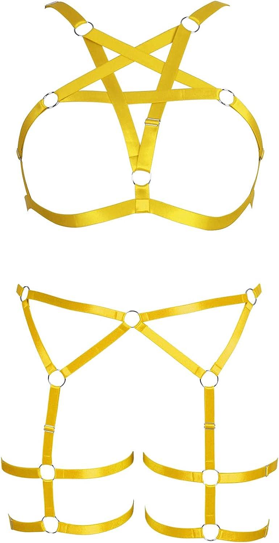 Large Size Plus Garter Belt Max 75% OFF Set Full San Jose Mall for Women Harness Body