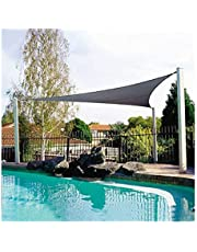 Waterdichte Shade Sail Anti-UV Zonnescherm Net, Een Tuin Sunscreen Sunblock Schaduwdoek Net Plant Greenhouse Cover Car Cover (Color : Gray, Size : 5m x 5m x 5m)