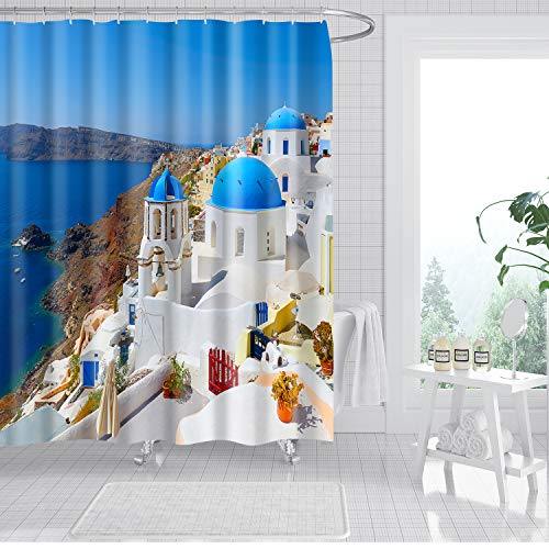 """Rustic Shower Curtain.Country Style Nostalgic Wooden Door Flowers Plants Waterproof Shower Curtains with 12 Hooks .72""""X72"""" Decorative for Bathroom Curtains"""
