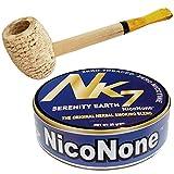 Missouri Meerschaum Pipe & NicoNone Herbal Smoking Blend 20g Tin (Serenity Earth)