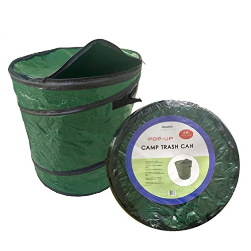 Oswego 30 Gallon Collapsible Camping Trash Recycle Cans (Olive Green, 1)