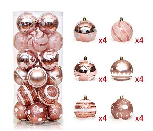 Zinsale 6cm/2.36' 24pz Bagattelle per Alberi di Natale Sfere di plastica infrangibili Palle di...