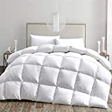 HOMBYS California King Goose Down Comforter Cal King 108 x 98 Inches Duvet Insert Oversized All Season Premium White 100% Cotton Cover Down Proof with 8 Corner Tabs 73oz Medium Warmth