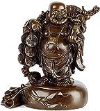 Desktop-Skulptur Geld Maitreya Buddha Statue Reine Kupfer Lachen Buddha Skulptur Feng Shui Dekoration Kunst Figuren Handwerk Dekoration Zubehör (Color : S)