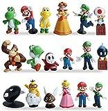 Miotlsy Super Mario Mini Figuren 18er Set Geburtstags Party liefert Cupcake Figuren Cake...