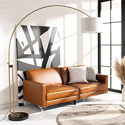 "Safavieh LIT4349A Lighting Collection Polaris Arc Floor Lamp, 84"", Antique Brass"
