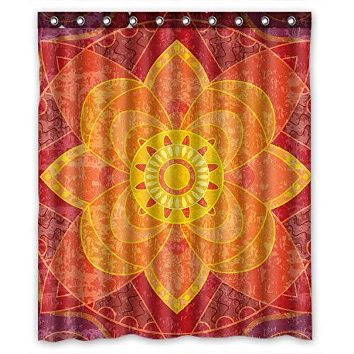 KXMDXA Mandala Paisley Damask Waterproof Polyester Bath Shower Curtain Size 60x72 Inch