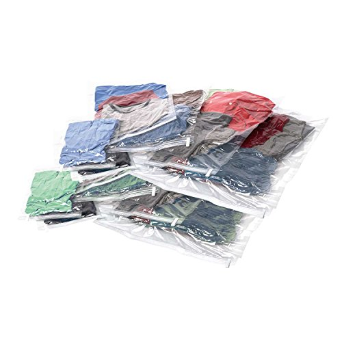 Samsonite 51714-1212 Compression Bags 12-Piece Kit (2 Pouch, 4 Carry-on, 4 Large, 2 Xl), Clear