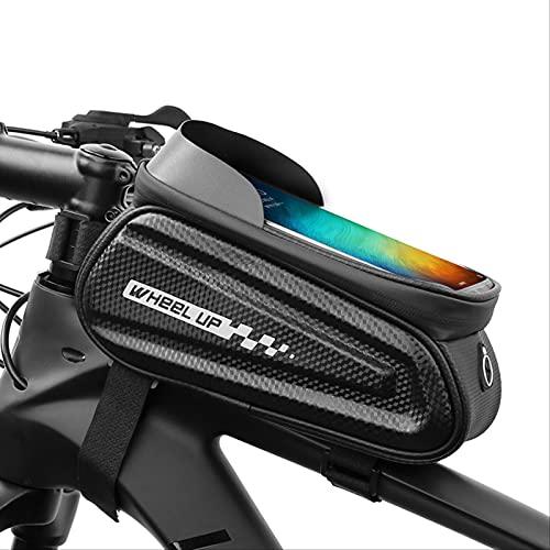 Bolsa De Portabicicletas, Impermeable, Bolsa De Almacenamiento De Pantalla Táctil De Tubo Superior Delantero Para Bicicleta, Adecuado Para Iphone Samsung Y Otros Teléfonos Inteligentes De Menos De 7.0