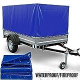 LSXIAO 頑丈な防水シート、 防火 工業用 難燃性生地 ガラス繊維 PVCコーティング グロメット付き 屋外のテント、 トラック、 日傘カバー (Color : Blue, Size : 2.4x6m)