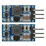 Modulo Convertitore Boost CC-CC 2 pezzi da 2,6-5,5 a 5 V/6 V/9 V/12 V Convertitore di Tensione Regolatore di Tensione Step-up per Motore LED(6V, with Pin)