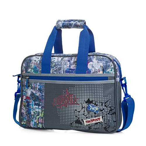 SKPAT - Cartera Infantil Estampada. maletín extraescolar. Capacidad para blocs libretas Libros y portátil. tamaño a4. cómodo y Ligero
