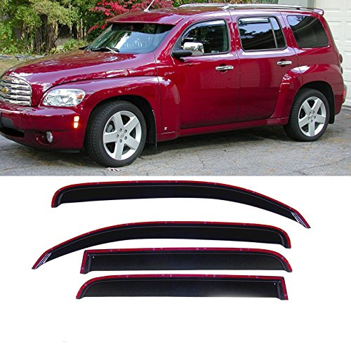 Alxiang 4pcs in-Channel Style Front + Rear Smoke Sun/Rain Guard Vent Shade Window Visors Fit 06-11 Chevrolet HHR