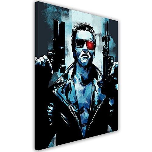 Feeby. Cuadro en Lienzo - 1 Parte - 50x70 cm, Imagen impresión Pintura decoración Cuadros de una Pieza,Terminator 3 - Nikita Abakumov, PELÍCULA, Azul