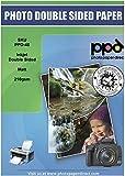 PPD A3 x 100 Hojas de Papel Fotográfico de Doble Cara - Acabado Mate - Alto Gramaje de 210 g/m² y Secado Instantáneo - Para Impresora de Inyección de Tinta Inkjet - PPD-46-100