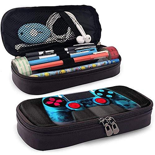 Blau Game Controller große Kapazität Speicher Marker Fall Stifthalter, Kosmetik Make-up Tasche, Briefpapier Veranstalter Bleistiftbeutel