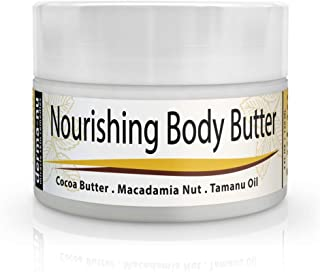 Body Butter Cream, Cocoa Butter Lotion for Stretch Marks, Scars, Pregnancy and Massage, Best Organic Body Butter for Extra Dry Skin and Good for Sensitive Skin, for both Women and Men