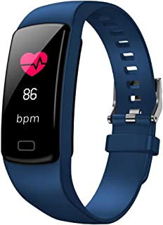 FEDULK Smart Watch Sports Fitness Waterproof Heart Rate Tracker Blood Pressure Stopwatch Bluetooth Smartwatch(Blue)