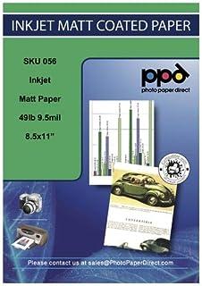 PPD Papel fotográfico recubierto con acabado mate para impresora de inyección de tinta A4 170 g/m2 X 100 hojas PPD-56-100