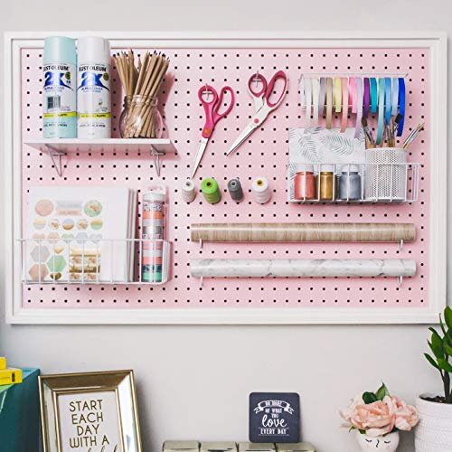Pegboard Organizer is a great small home office idea to stay organized