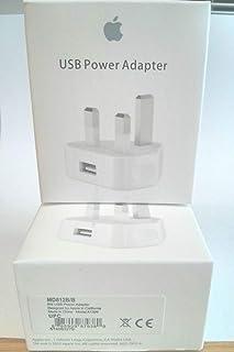 محول طاقة ايفون آيبود آبل 5W USB - 3 دبابيس المملكة المتحدة