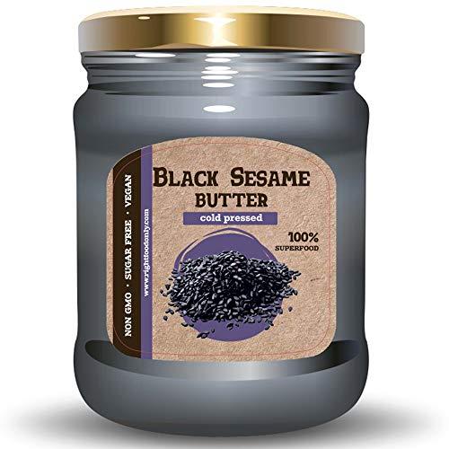 ISOP Black Sesame Butter 230gr (8oz) - Gesunder Nussaufstrich - Veganes Essen - Gute Quelle für Pflanzenproteine