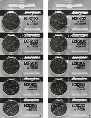 Energizer ECR2032 - Battery, 3 V, Lithium , 240 mAh, x 10 Pack - Packaging May Vary