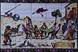 733082 Don Quijote And Sancho Panza Tile Toledo Spain A4