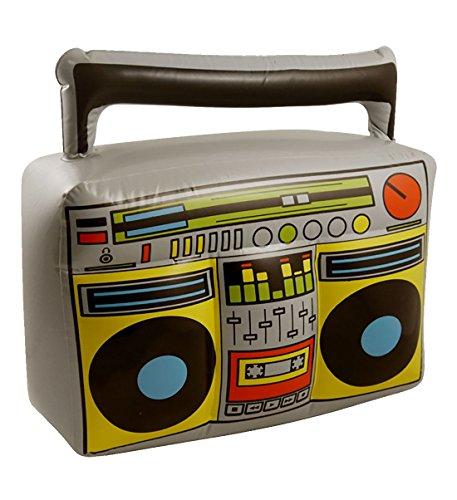 Islander Fashions Boom Box Gonflable 44X38cm Party Fantaisie Stag Do Blow Up Lecteur de Musique Accessoire Pack de 3