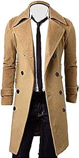 Cappotto da Uomo Autunno Lungo Inverno Giacca Slim Fit Taglie Comode Warm Coat Trench Coat Outfit Moda Uomo