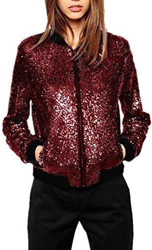 oversized Women Wild Casual Sequin Jacket Short Coat jacket