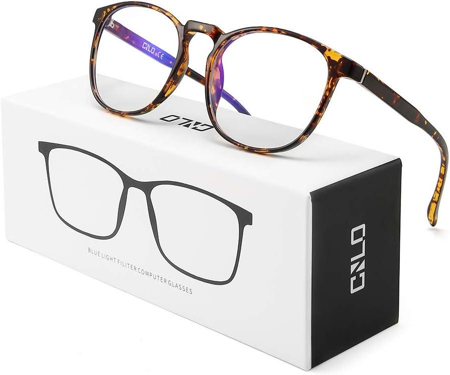 CNLO Blue Light Blocking Glasses,Computer Glasses,Radiation Protection Gaming Glasses, For UV Protection, Anti Eyestrain,Lens Lightweight Frame Eyewear,Men/Women (AMBER)