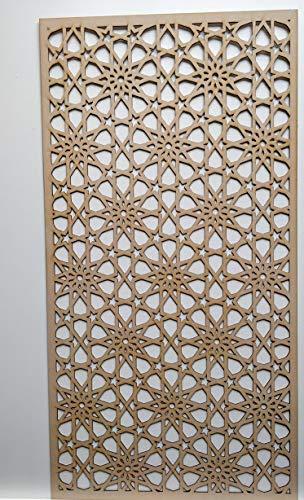 LaserKris Rejilla decorativa para pared del armario del radiador, panel de MDF perforado (4X2) M2