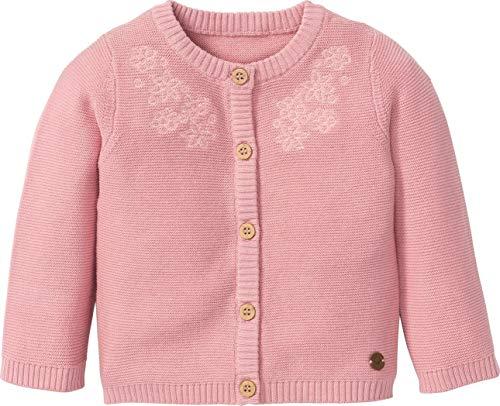 lupilu® Baby Mädchen Strickjacke mit Stickerei aus 100% Bio-Baumwolle (Altrosa, Gr. 62/68)