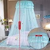 Fancylande Baldachin Betthimmel Himmelbett Vorhänge für Mädchen Bett - Prinzessin Zelt Spitze Bett Moskitonetz für Kinder Spielen, Kinderzimmer Dekor - Quick Easy Installation - 4